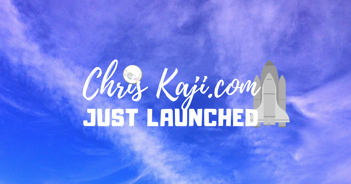 just launched - chriskaji.com