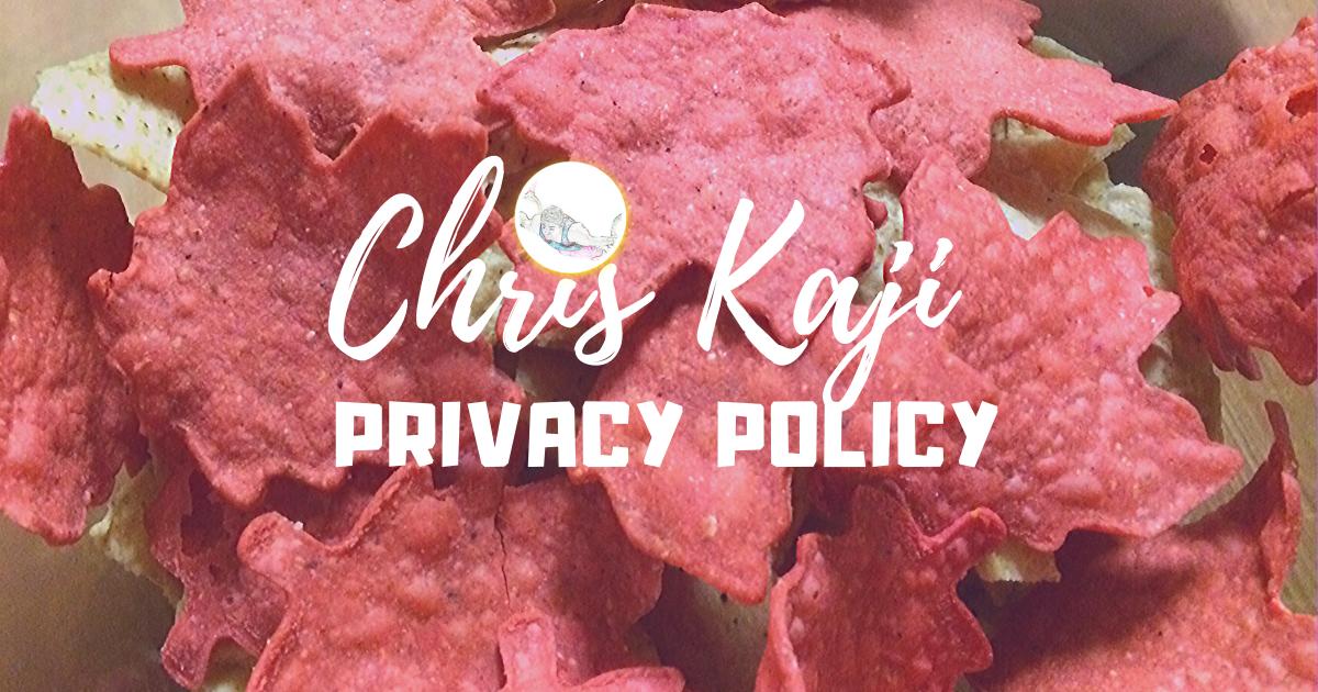 chriskaji.com Privacy Policy